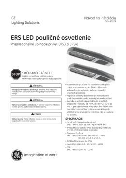 ERS LED pouličné osvetlenie