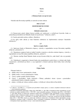 Návrh zákona o Štátnom fonde rozvoja bývania