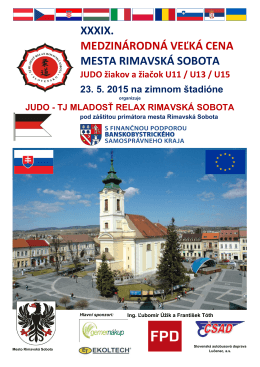 xxxix. medzinárodná veľká cena mesta rimavská sobota - JUDO