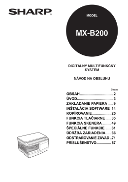 MX-B200 Operation-Manual SK