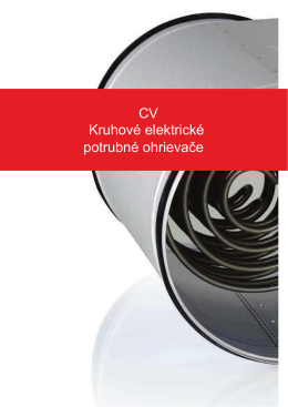 CV Kruhové elektrické potrubné ohrievače