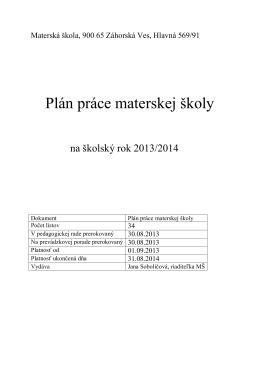 Materská škola, 900 65 Záhorská Ves, Hlavná 569/91