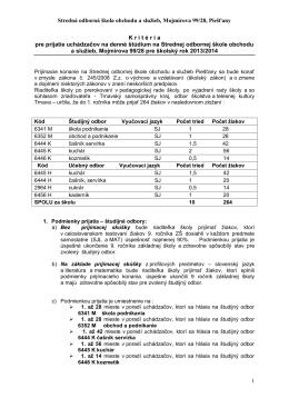 Stredná odborná škola obchodu a služieb, Mojmírova 99/28