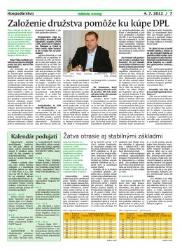Roľnícke Noviny o výkupe DPL