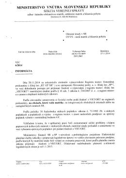 Informácia Register trestov