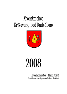 2008 - Križovany nad Dudváhom