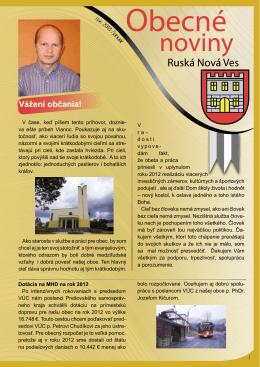 Obecné noviny 2013 - Obec Ruská Nová Ves