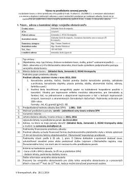 Výzva na predloženie cenovej ponuky 1. Názov, adresa a kontaktné