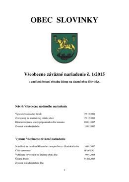 č. 2/2014 o zneškodňovaní obsahu žúmp na území