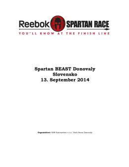 Propozície - Spartan Race Slovakia