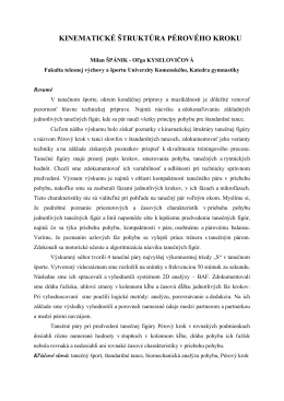 Kinematická štruktúra Pérového kroku – Slowfox (pdf)