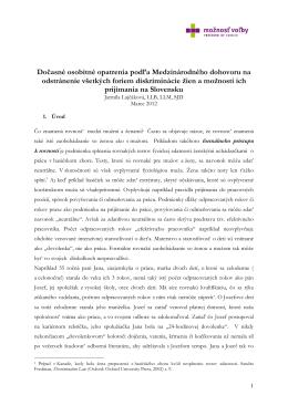 Právna analýza k CEDAW-u