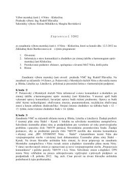 Zápisnica z 12.3.2012 - Čajkovského 13,15,17,19
