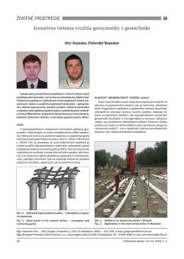 Inovatívne riešenia využitia geosyntetiky v geotechnike