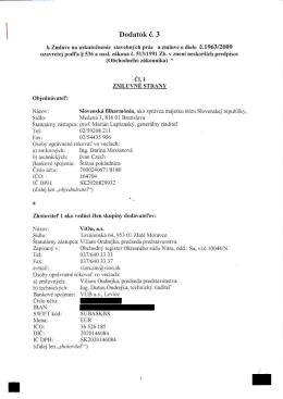 Dodatok č. 3 - Slovenská filharmónia