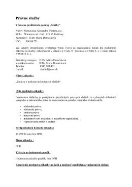 Právne služby - Nemocnica Alexandra Wintera, Piešťany