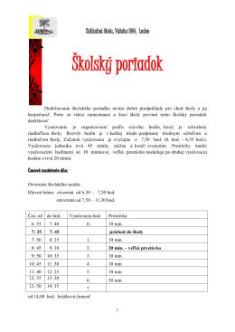 Základná škola, Vážska 399, 018 63 Ladce