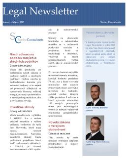 1-3/2013 - Senior Consultants