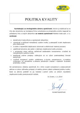 POLITIKA KVALITY