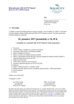 Pozvánka na ČS 20150126