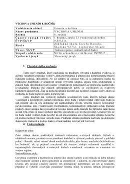 Výchova umením - Základná škola Liptovské Sliače
