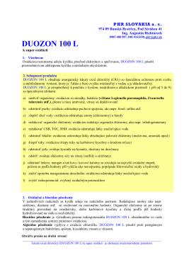 DUOZON 100 L - PKR SLOVAKIA as
