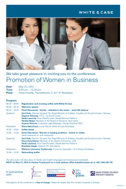 Promotion of Women in Business
