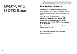 instrukcja baby safe isofix base