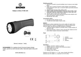 Nabíjecí svítilna LP-400 LED Návod k obsluze – česky