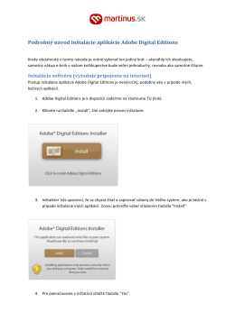 Podrobný návod inštalácie aplikácie Adobe Digital