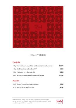 Park Hotel Tartuf / menu