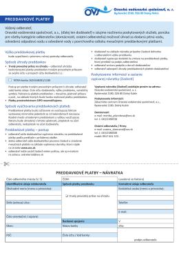 Preddavkové platby - Oravská vodárenská spoločnosť