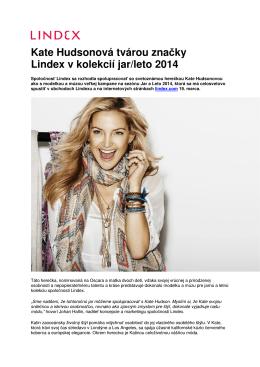 Kate Hudsonová tvárou značky Lindex v kolekcií jar
