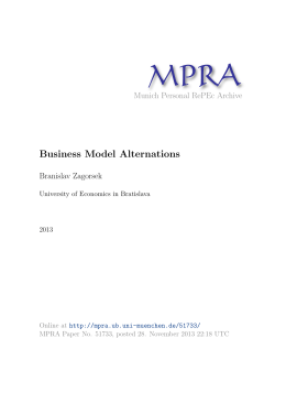 Business Model Alternations - Munich Personal RePEc Archive