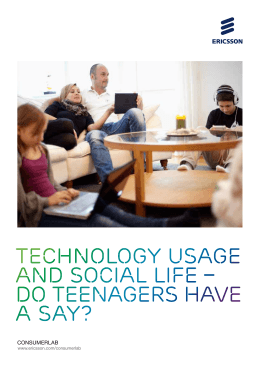 Technology usage and social life – do teenagers have a