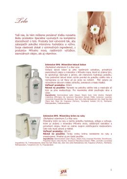 Telová spa kozmetika