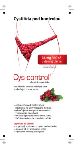Cystitída pod kontrolou 36 mg