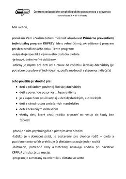 Primárne preventívny individuálny program