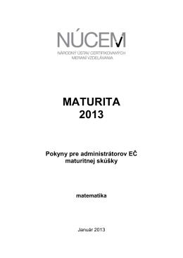 Maturita 2013/Pokyny pre administrátorov