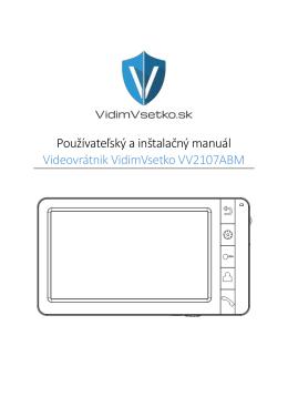 Používateľský a inštalačný manuál Videovrátnik