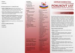 Ponukový list vo formáte pdf na stiahnutie