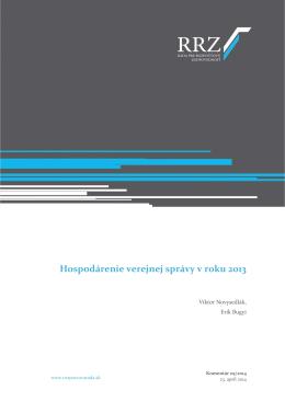 Hospodárenie verejnej správy v roku 2013