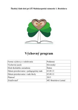 Výchovný program