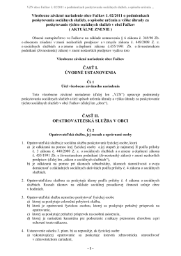 VZN obce Fačkov č. 02/2011 o podmienkach