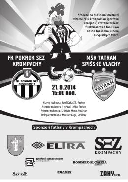 FK POKROK SEZ KROMPACHY MŠK TATRAN SPIŠSKÉ VLACHY