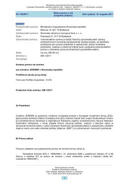 Schéma DM-1/2011 - Ministerstvo hospodárstva SR