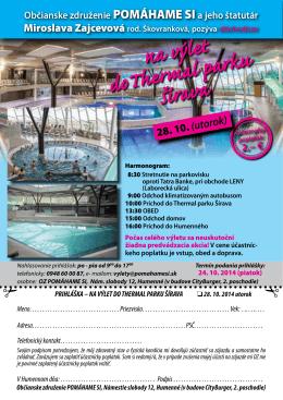 Thermal Park Šírava výlet pre dôchodcov