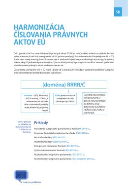 novej metóde číslovania - EUR-Lex