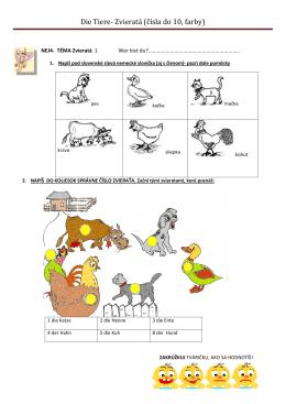Zvieratá 1