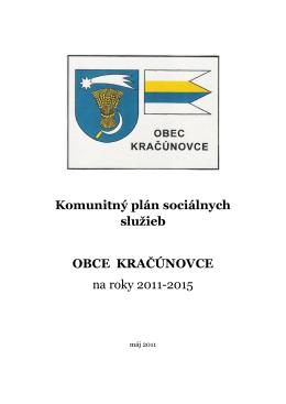 Komunitný plán sociálnych služieb OBCE